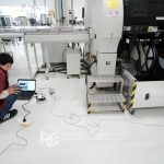Measurement of floor vibration caused by machines operation