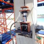 Pull out and shear load test on anchor bolt in situ